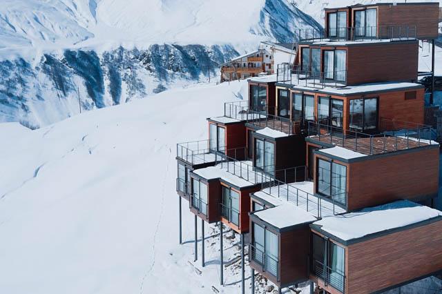 Hotel en la nieve
